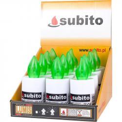 Subito LUMIS wkład do zniczy LED Zielony 12 sztuk