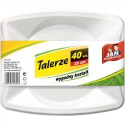 Jan Niezbędny talerze jednorazowe 40 sztuk