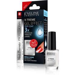 Eveline Nail X-treme Gel Effect Top Coat Przedłużenie trwałości lakieru