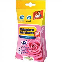 Jan Niezbędny rękawice warstwowe różowe M 10 sztuk