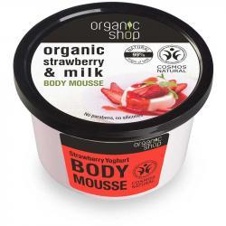 Organic Shop mus do ciała Truskawkowy jogurt 250ml