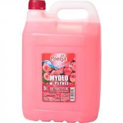 Poezja mydło w płynie 5L różane z gliceryną