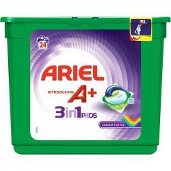 Ariel kapsułki do prania 3w1 do kolorów 24 sztuki