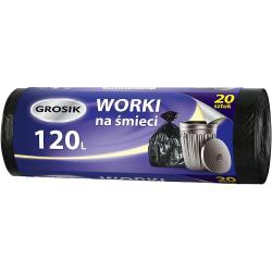 Grosik worki na odpady HD 120L/20szt.