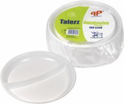 PP talerze plastikowe 2-dzielne 22cm 100szt