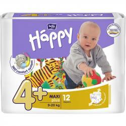 Bella Happy pieluszki Maxi plus 4+ (9-20kg) 12 sztuk