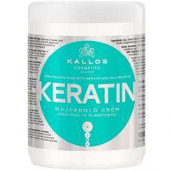 Kallos maska Keratin do włosów suchych i łamiących się 1000ml