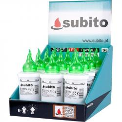Subito S6 wkład do zniczy LED Zielony 12 sztuk