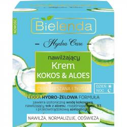 Bielenda Hydra Care krem do twarzy Kokos & Aloes cera mieszana i tłusta 50ml