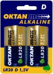 Oktan baterie alkaliczne D R20 1,5V 2szt.