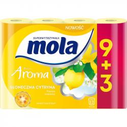 Mola papier toaletowy żółty 9+3sztuki