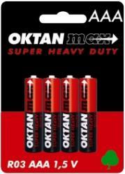 Oktan baterie cynkowe AAA R03 1,5V 4szt.