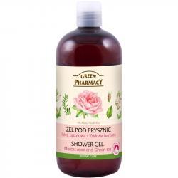 Green Pharmacy żel pod prysznic 500ml Róża i Zielona Herbata