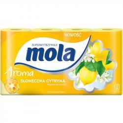 Mola Aroma papier toaletowy dwuwarstwowy Słoneczna Cytryna 8 sztuk