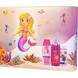 Fa Zestaw Kids Księżniczka żel pod prysznic i szampon+pasta do zębów Vademecum+szampon Schauma Kids