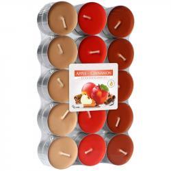 BISPOL świece zapachowe 30szt jabłko / cynamon