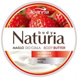 Joanna Naturia masło do ciała 250g truskawka i mleko