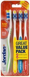 Jordan Total Clean miękkie szczoteczki do zębów 4 sztuki