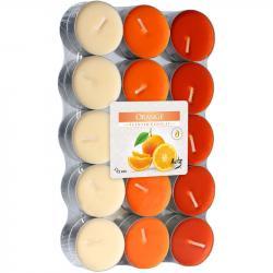 BISPOL świece zapachowe 30szt pomarańcza