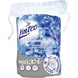 -50% wyprzedaż Linteo płatki kosmetyczne MAXI 40szt hypoalergiczne z jonami srebra