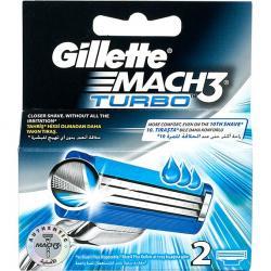 Gillette Mach 3 Turbo wkłady do maszynek 2 szt.