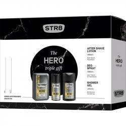 STR8 zestaw Hero woda po goleniu 100ml + dezodorant 150ml + żel pod prysznic 250ml