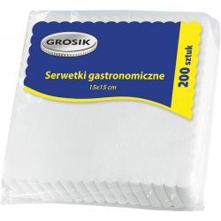 Grosik serwetki gastronomiczne 15x15 200 sztuk ząbki