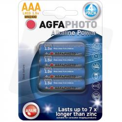 AgfaPhoto baterie alkaliczne AAA LR03 1,5V 4szt