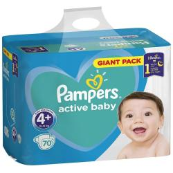 Pampers Active Baby pampersy 4+ Maxi+ (10-15kg) 70sztuk