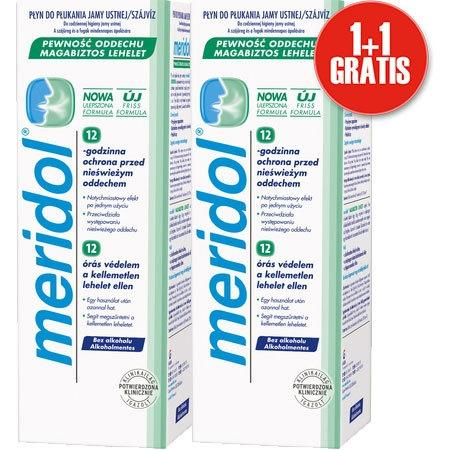 1+1 Meridol Świeżość oddechu płyn 400ml + drugi GRATIS (krótki termin)