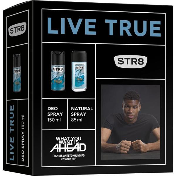 STR8 zestaw Live True dezodorant perfumowany 85ml + dezodorant 150ml