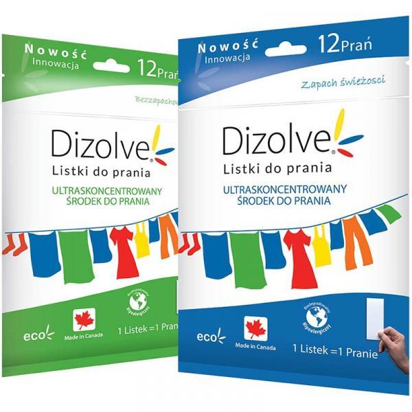 DIZOLVE hipoalergiczne listki piorące 12szt (bezzapachowe)