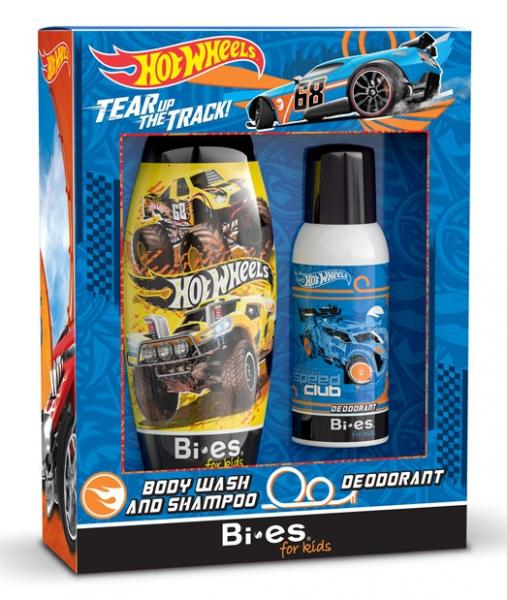 Hot Wheels zestaw dezodorant + szampon i żel pod prysznic