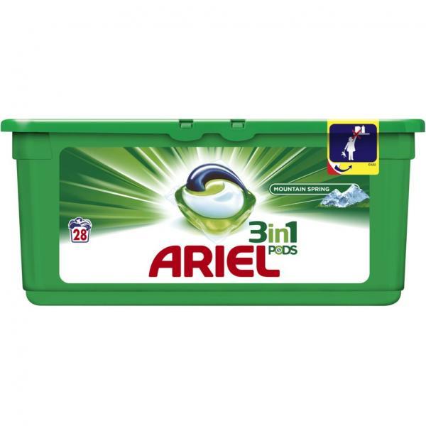 Ariel kapsułki do prania 3w1 28 sztuki Mountain Spring