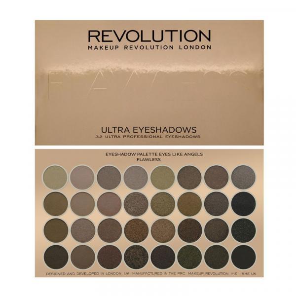Revolution zestaw 32 cieni do powiek Flawless