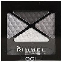 Rimmel Glam'Eyes quad 001 Smokey Noir cienie do powiek poczwórne