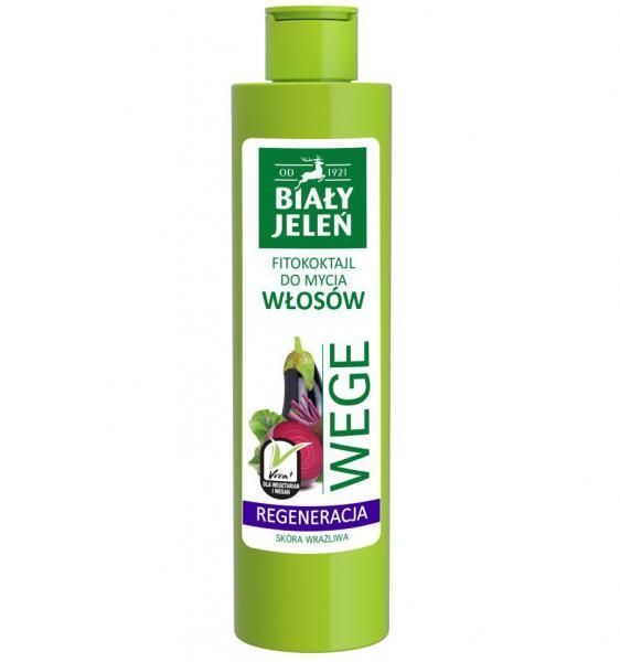 Biały Jeleń szampon do włosów WEGE 250ml burak i bakłażan