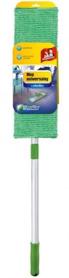 Jan Niezbędny mop płaski z mikrofibry uniwersalny zielony zestaw