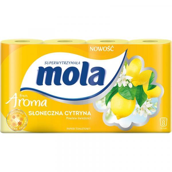 Mola Aroma papier toaletowy 2-warstwowy Słoneczna Cytryna 8szt.
